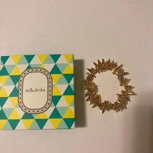 Stella & Dot Renegade Bracelet - Gold